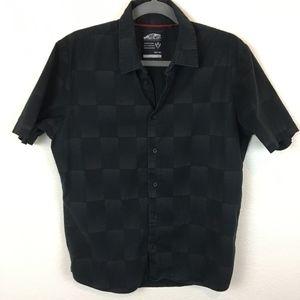 Vans Size Medium Black on Black Checkerboard Shirt